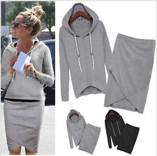 TOP Damen Zipper Sweat Jacke Sweater Hoody Hoodies Rock Sportanzug Jogginganzug