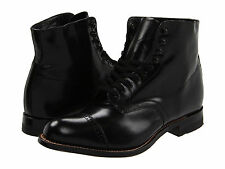 Stacy Adams MADISON 00015 Mens Black Leather Lace Up Cap Toe Dress Ankle Boots