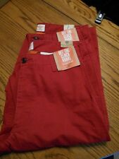 """DOCKERS 100% Cotton D2 """"Off the Clock"""" Straight Fit Red Khakis Chinos SR$58 NEW"""