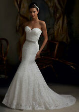 In stock New Style White/lvory Wedding Dress Bridal Gown Size:6/8/10/12/14/16+