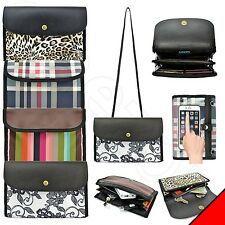 iPhone / Smart Cell Phone Clutch Purse Crossbody Shoulder Arm Easy Access Bag