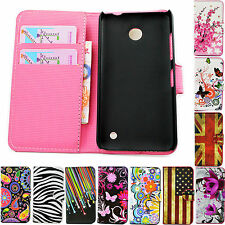 Pocket Flip Holster Leather Wallet Case Cover For Nokia Lumia 520 630 720 925