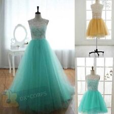 Stock Short/Long Green Formal Ball Gowns Evening Homecoming Prom Dress Size 6-16
