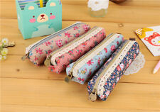 Pretty Floral Fabric Pencil Case Cosmetic Make-up Bag Glasses Stylish Gift
