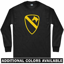 1st Cavalry Long Sleeve T-shirt - USA Army War Armed Forces  - LS - Men / Youth