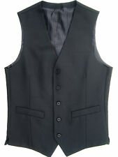 "MENS 34 36 "" XS S SMALL BLACK GREY & NAVY BLUE DRESS SUIT WAISTCOAT WAISTCOATS"