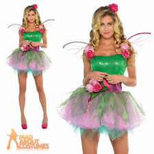 Adult Fairy Costume Ladies Sexy Woodland Nymph Fairytale Fancy Dress Pixie
