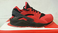 NIKE AIR HUARACHE QS UNIVERSITY RED SUEDE BLACK LOVE HATE 700878-600 NEW DS