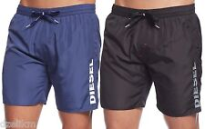 NWT Diesel LOGO Swimwear Markred Medium-Length Swim Boxer Trunk Short Size S