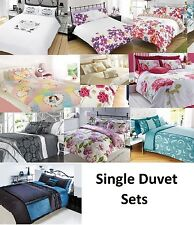 Contemporary Complete Duvet Quilt Bedding Single Pillow Cases & Cover Set Mixed