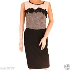 GEORGE Ladies BLACK Lace Shift Dress Sleevless Grey Cream Size 10 - 24 Party