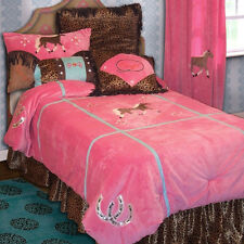 Cowgirl Leopard Complete Bedroom Set with Matching Curtains and Pillows