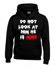 Do not Look at Him He is Mine HOODIE zombie halloween custom couple Sweatshirt