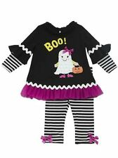 New Baby Girl Rare Editions sz 3-9m BOO Ghost Halloween outfit Dress Clothes NWT