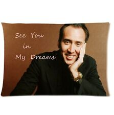 New Custom Nicolas Cage Rectangle Pillow Case 18x18 20x30 20x36 inch one side