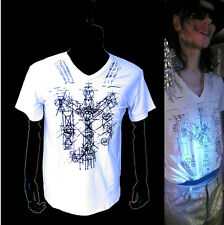 MJ MICHAEL JACKSON This is it abstract Memory Thriller White Cotton T-shirt