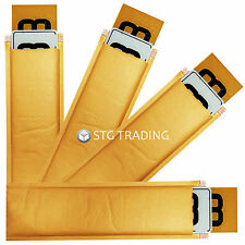 GOLD PADDED ENVELOPES FOR NUMBER PLATES 530 x 130mm BUBBLE MAILERS WITH 42MM LIP