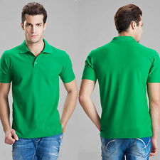 Mens Short Sleeve Polo Shirts Casual Sports T-Shirt Summer Slim Fit Tee Tops NEW