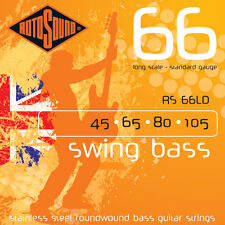 Rotosound 4-String Swing Bass Stainless Steel Bass Guitar Strings 5-Pack