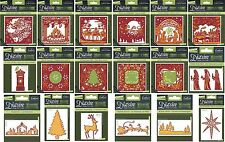 CRAFTERS COMPANION DIE'SIRE CHRISTMAS & CREATE A CARD DIES - PRICES REDUCED!