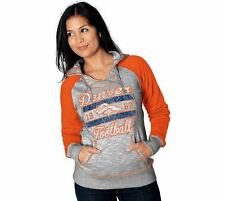 Denver Broncos WOMENS Sweatshirt Pullover Hoodie Gray by Majestic Athletic