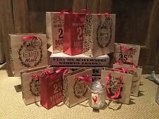 Vintage Do not open until the 25th December Christmas Brown Paper Gift bag