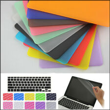"""3in1 Rubberized Hard Matte (no Cut-out) Case Cover For MacBook White 13"""" A1342"""
