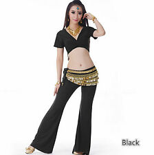 Practice Casual Cotton Pants Belly Dance Costumes Yoga clothing 9 colors