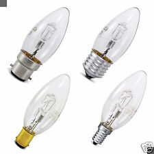 2 5 10 20 Halogen Candle BC SBC ES SES 28W = 42W Energy Saving Light Bulbs Pack