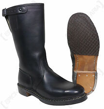 German Army Bundeswehr OFFICERS JACK BOOTS - All Sizes - Genuine Black Leather