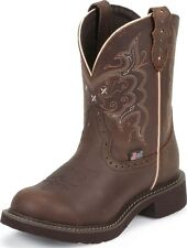 Justin Gypsy Women's Round Toe Western Boots Brown Apache Leather Medium L9995