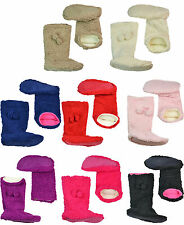 NEW CO-ZEES LADIES/WOMENS SHERPA SLIPPER BOOTS SOFT FLEECE BOOTIES SIZE 4 TO 7