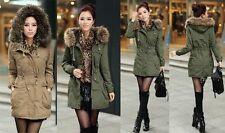 2015 HOT Femme Manteau Fleece Veste à Capuche Thicken Parka Blouson Coat Jacket