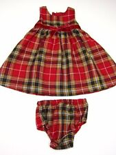 New WONDER KIDS Girl Toddler DRESS Holiday Christmas PLAID   sz:18&24 mo  & 24 m