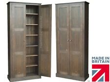 """Solid Pine Cupboard, 6ft 6"""" Tall Pantry, Linen, Kitchen, Shoe Storage Cabinet"""