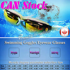 New Adult Myopia Swimming Goggles Anti Fog UV protective - 5.0 Free Shipping