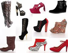 6 Pairs Women Shoes Heels Wholesale Shoe Mixed Lot. Pick your size