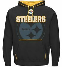 Pittsburgh Steelers MENS Sweatshirt Pullover Hoody Seam Pass by Majestic