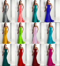 New Long Evening Formal Party Ball Gown Prom Wedding Bridesmaid Dress 6-16