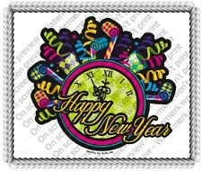 Happy New Year ~ Frosting Sheet Cake Topper ~ Edible Image ~ D20062