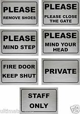 Door Sign, Shop, Wall, Office, MIND STEP, MIND YOUR HEAD, STAFF ONLY PRIVATE