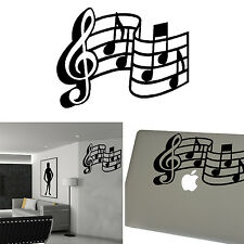 musical notes stickers STAFF, vinyl cut shilouette. notas musicales