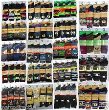 New Mens Designer Socks 6 or 12 Pairs Cotton Rich Lycra Design Socks, Size 6-11