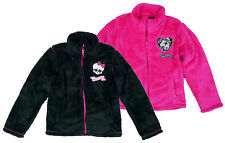 Kids Monster High Fashion Fleece Furry Winter Zipper Jacket 8-14 Years