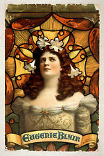 Photo Printed Old Poster Theatre Flyer 1800s People Stars Eugenie Blair In Colou