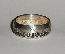 1893 Columbian Half Dollar made into a silver coin ring sz.9,10,11,12,13 or 14