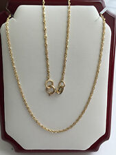 """14K Solid Yellow Gold Chain 18"""", 20"""" - width 1mm"""