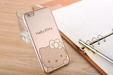 Ultra Thin Gold Cute Hello Kitty Hard Plastic Case Cover for iPhone 6 Plus 4S 5S
