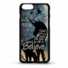 Cover for Iphone 4  4s Unicorn I believe life quote phrase pretty art phone case