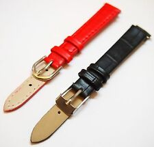 Ladies Leather Strap Wristwatch Watch Band Red Black 12mm Brand NEW!!